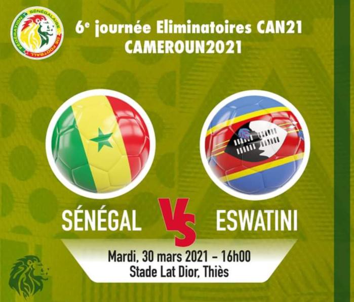 Sénégal – Eswatini : Les Lions pour finir sur une convaincante victoire, ce mardi, à Thiès (16h00)