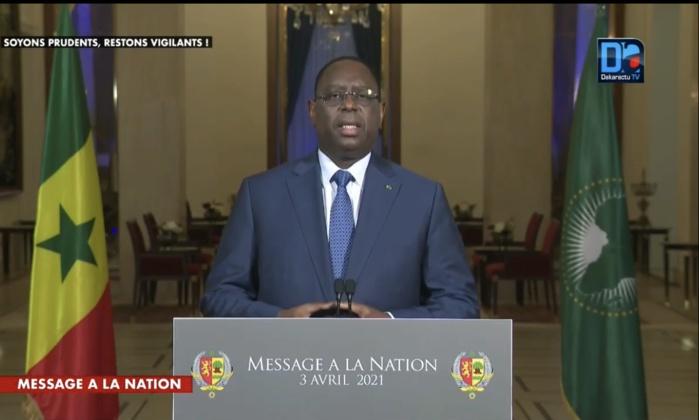 Discours à la nation : «Je réaffirme devant vous, que le Sénégal est une nation unie et indivisible. Il ne peut y avoir de particularisme quel qu'il soit» (Macky Sall)