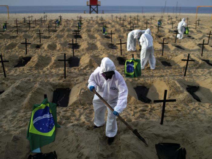 Covid-19 : Encore une hécatombe au Brésil avec plus de 4000 décès le mardi dernier, lendemain des Fêtes de Pâques.
