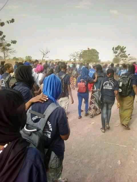 KOUNKANÉ : les élèves du lycée Ousmane Lirvane Simakha en grève pour réclamer de meilleures conditions d'études.