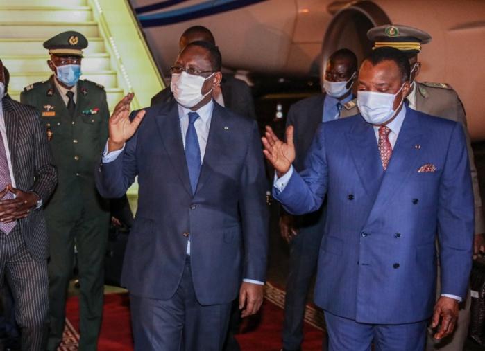Congo Brazzaville : Le président Macky Sall accueilli par son homologue Denis Sassou Nguesso.