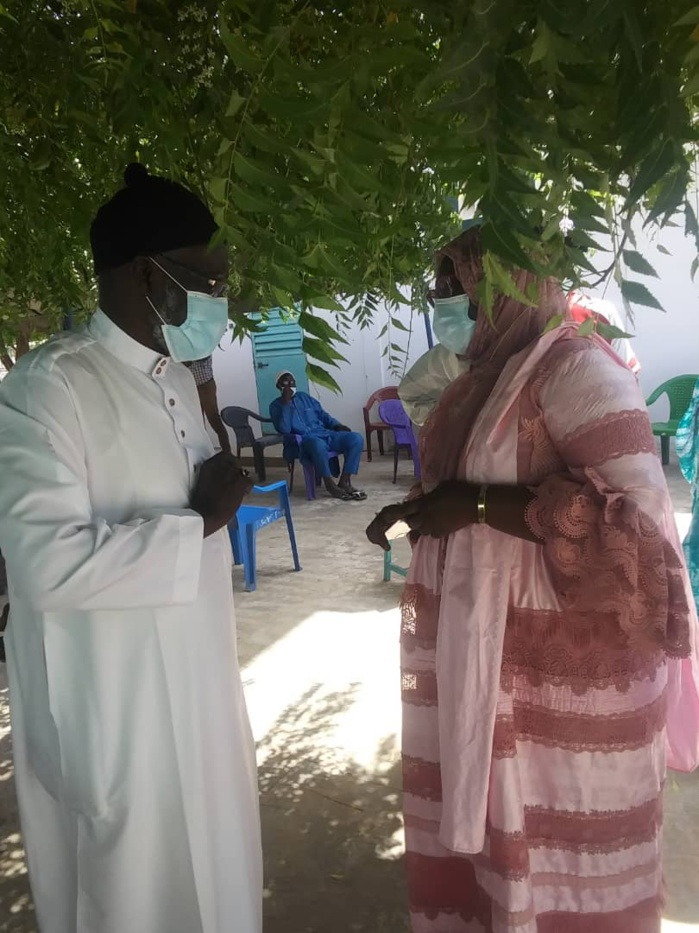 Kaolack / Semaine de Consultations Gratuites Ophtalmologiques : L'honorable députée Adji Diarra Mergane Kanouté s'engage à accompagner les personnes consultées.