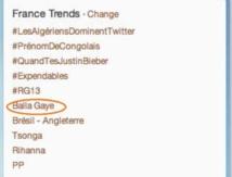 Balla GAYE 2 dans le top 10 sur TWITTER