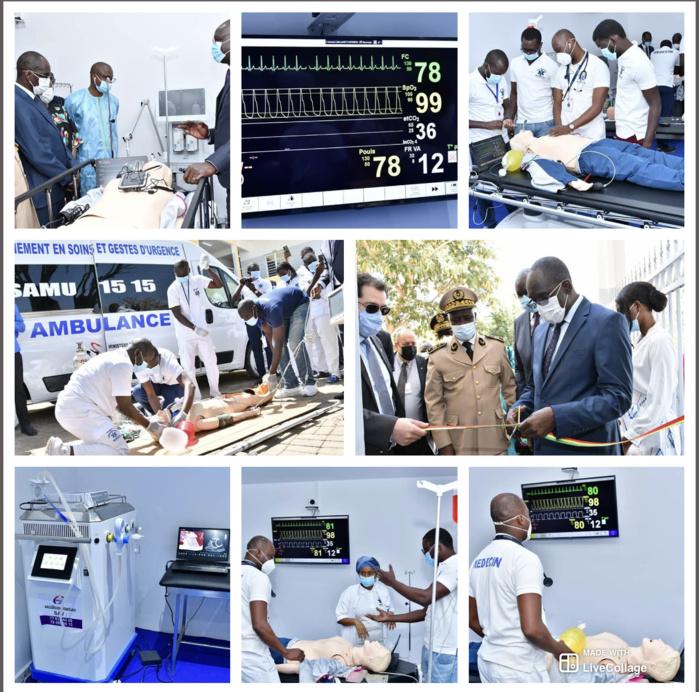 Santé / Cérémonie d'inauguration du siège du SAMU National : Le Sénégal désormais doté d'un centre de simulation médicale en soins et gestes d'urgence.