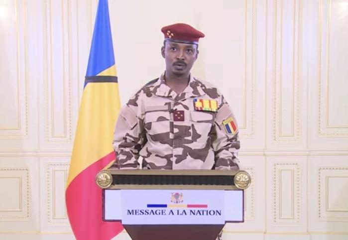 Mahamat Idriss Déby s'adressant aux Tchadiens : «Je serai le garant d'un dialogue qui ne va escamoter aucun sujet d'intérêt national... L'objectif final est d'organiser des élections libres et transparentes dans les meilleurs délais...»