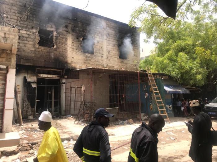 Marché central de Kaolack : Le nouveau décor après le passage de l'incendie (images)