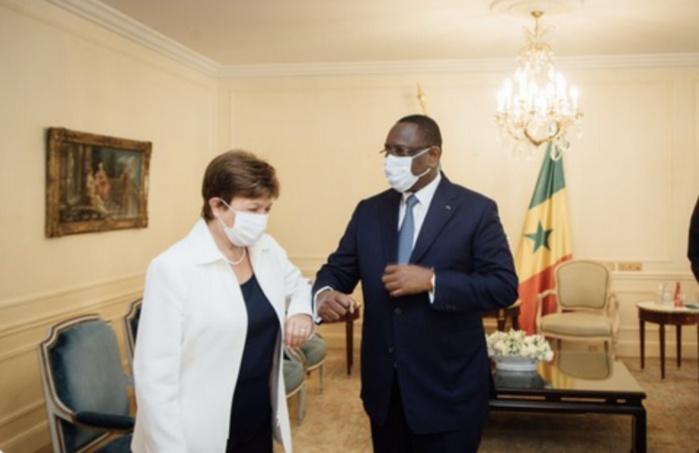 Sommet sur le financement des économies africaines : Macky Sall reçoit le Président égyptien, la Directrice du FMI et Makhtar Diop de la BM en audience.