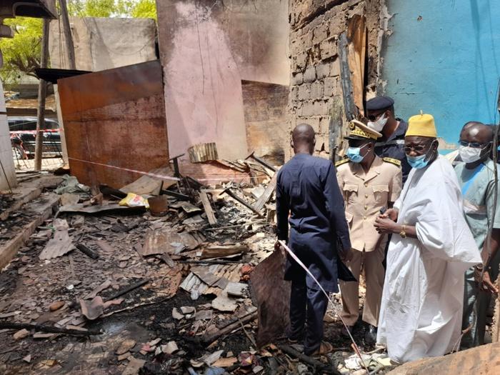 Énième incendie au marché central de Kaolack : Le gouverneur de Kaolack annonce une panoplie de mesures.