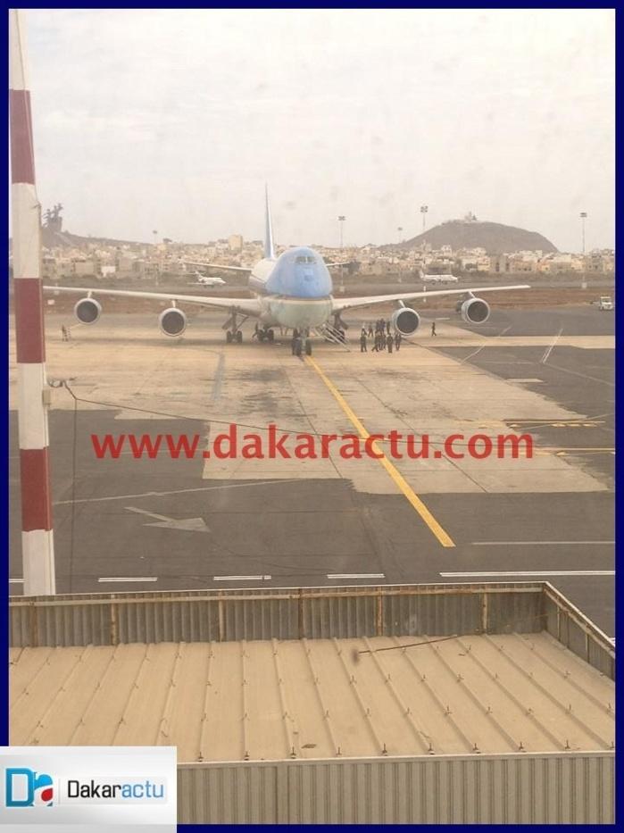 Aéroport LSS: Les premières images de l'escale de Barack Obama à Dakar