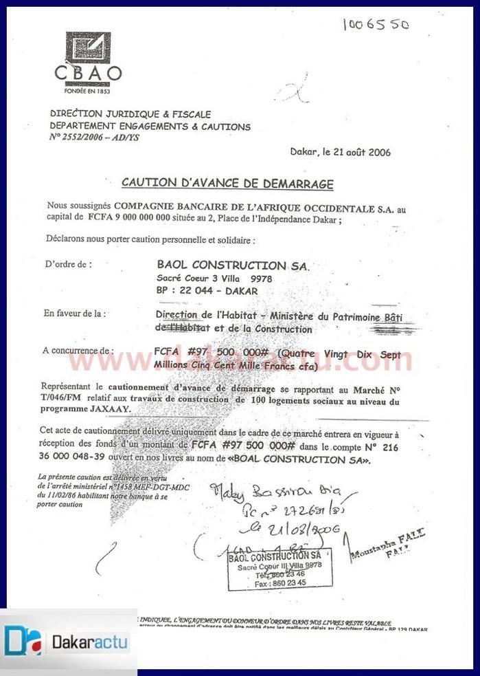 Pourquoi tracasse-t-on Serigne Cheikh Abdoul Ahad Mbacké Dg de Baol Construction?