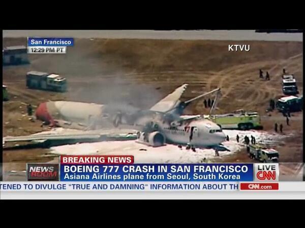 Crash d'un Boeing à l'aéroport de San Francisco
