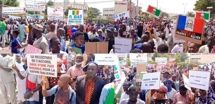 MALI : à la manifestation du M5-RFP, des slogans hostiles à la France, la junte adoubée