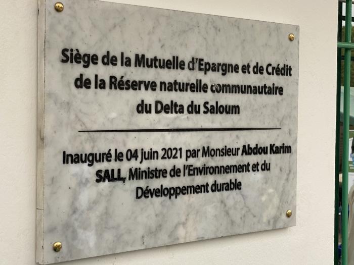 Financements novateurs: la mutuelle d'épargne et de crédit de la réserve naturelle du Delta du Saloum a étrenné un siège flambant neuf.