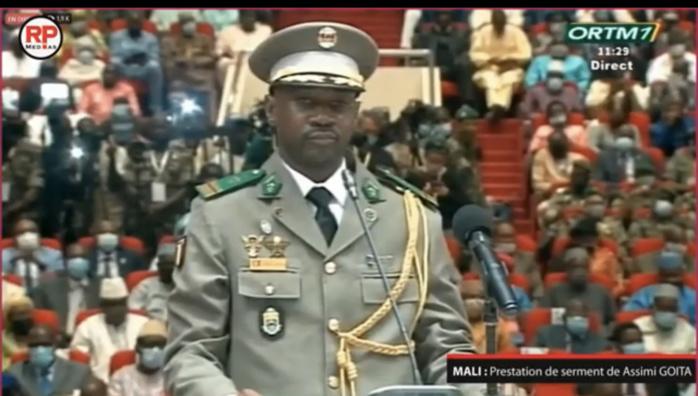 Mali : Le Colonel Assimi  Goïta  officiellement président de la Transition.