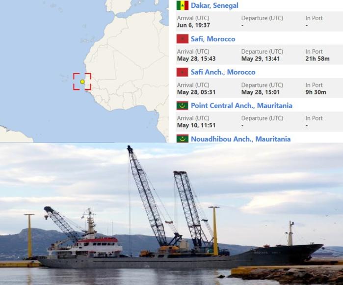 Saisie record de 8 tonnes de haschich au Sénégal : révélations sur le périple du navire transporteur.