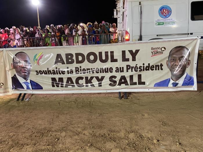 Matam : Le président Macky Sall a procédé à la pose de la 1ère pierre du centre national de contrôle des fréquences à Doumga Ouro Alpha.