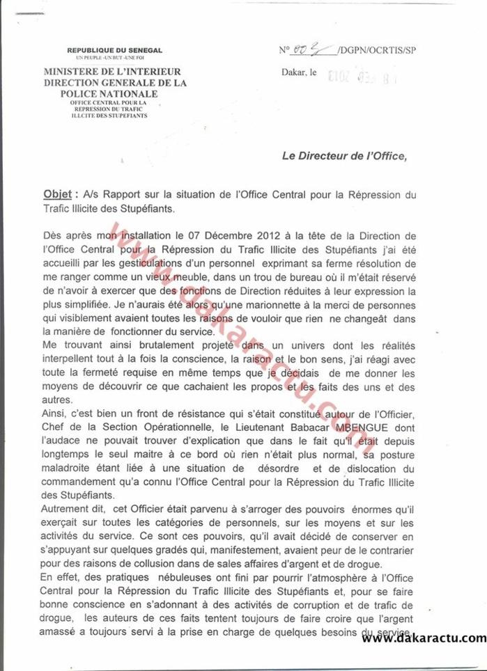Rapports du Commissaire Keïta : Ce qu'il transmettait aux autorités dès le 13 Février.(DOCUMENTS)