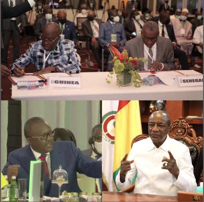 ACCRA : signature d'un mémorandum pour la réouverture des frontières entre la Guinée Conakry et le Sénégal, Umaro Sissoco Embalo dit niet à Nana Akufo Addo et dit ses vérités à Condé…