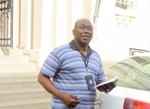 Commissaire Keïta, crée l'attraction à l'Aéroport Léopold Sédar Senghor
