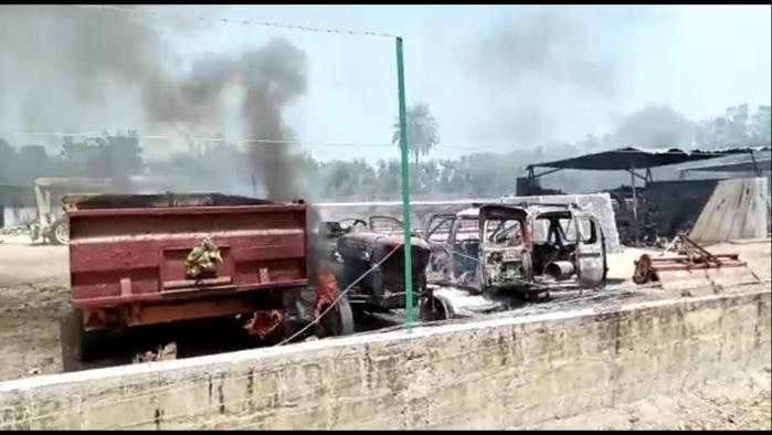 Mort d'un gardien à Boucotte-Diembering : Les jeunes en colère, mettent le feu au domaine…