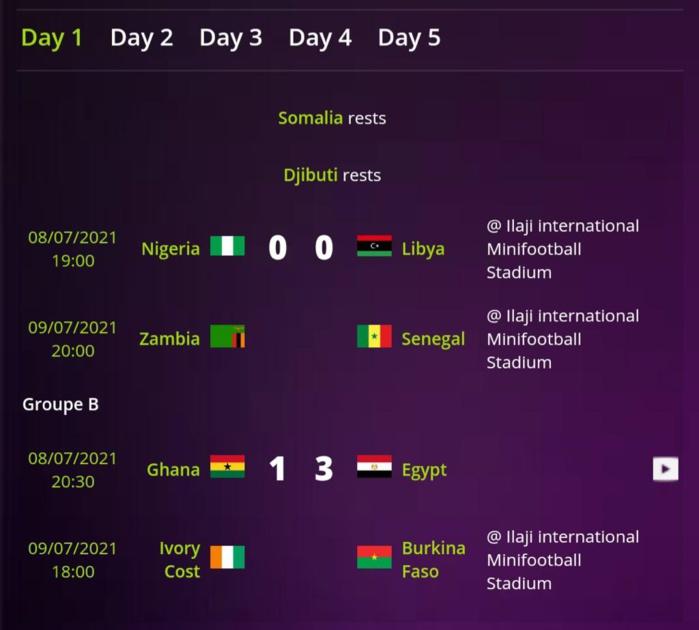 CAN 2021 minifoot : le Sénégal entame le tournoi ce vendredi à 19H contre la Zambie.