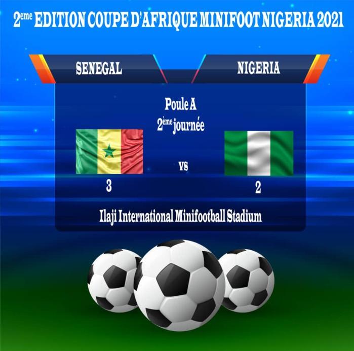 2ème journée / CAN minifoot 2021 : Le Sénégal bat le Nigéria 3 buts à 2 et décroche son ticket pour les quarts de finale.
