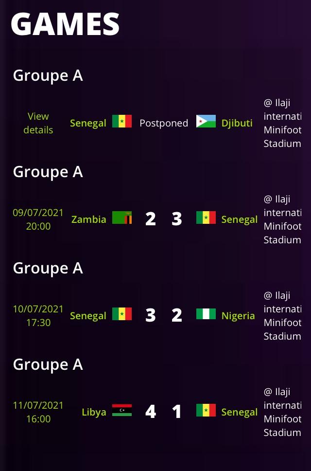 CAN minifoot Nigéria : après leur défaite contre la Libye, les lions font relâche lundi et mardi.