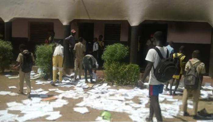 Lycée de Sindia : Un acte de vandalisme visé.