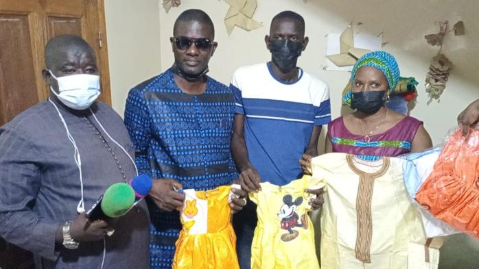 Tabaski 2021: Les orphelins de la pouponnière Lamine Coulibaly de Bongré, habillés et chaussés par Abdoulaye Khouma.