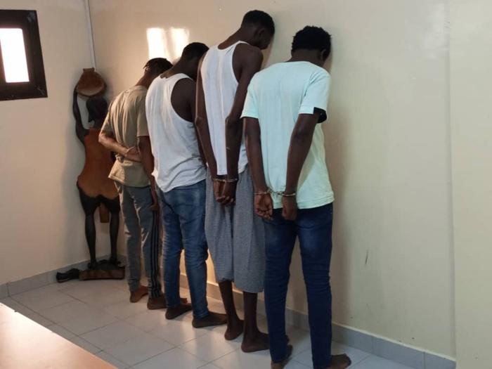Mbour : Le film de l'arrestation de la bande de malfaiteurs qui cambriolaient les magasins et multiservices de Saly et Touba.
