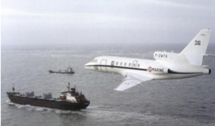 Contrôle de la pêche : Le Falcon 50 de la Marine française a réalisé une mission de surveillance dans le Golfe de Guinée.