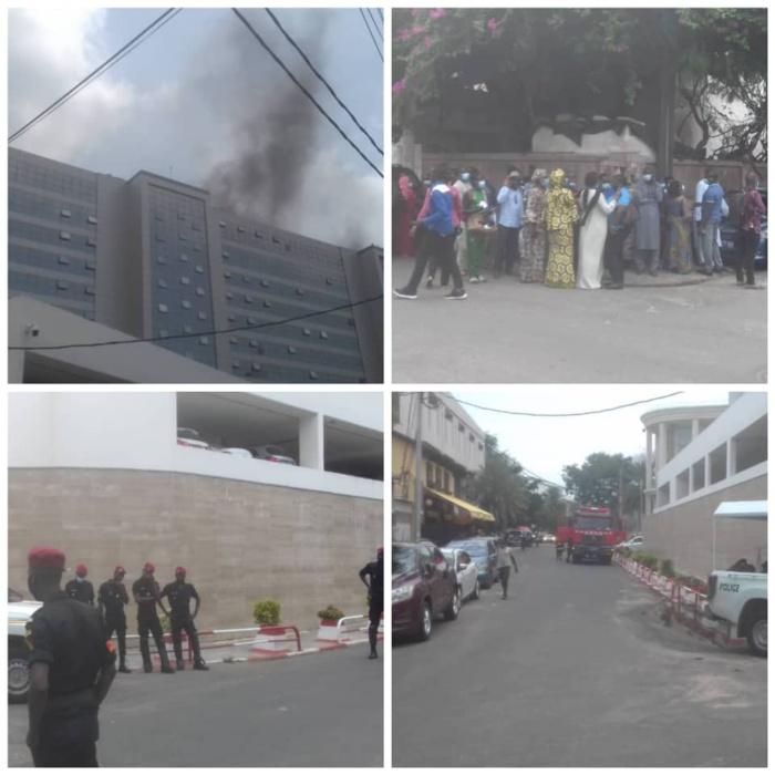 Incendie au building administratif : le feu serait parti des travaux effectués par une entreprise d'électricité