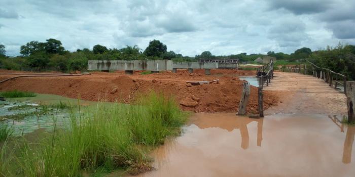 KOLDA : reprise des travaux du pont de Hiléle.