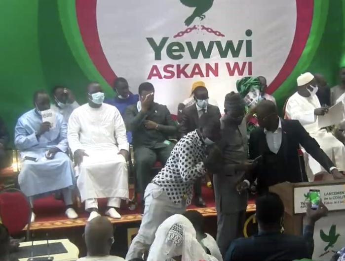 Lancement de la coalition « Yewwi Askan wi » : Khalifa Sall, Bougane Guèye Dany, Malick Gakou et Barthélémy Dias ont quitté la salle.