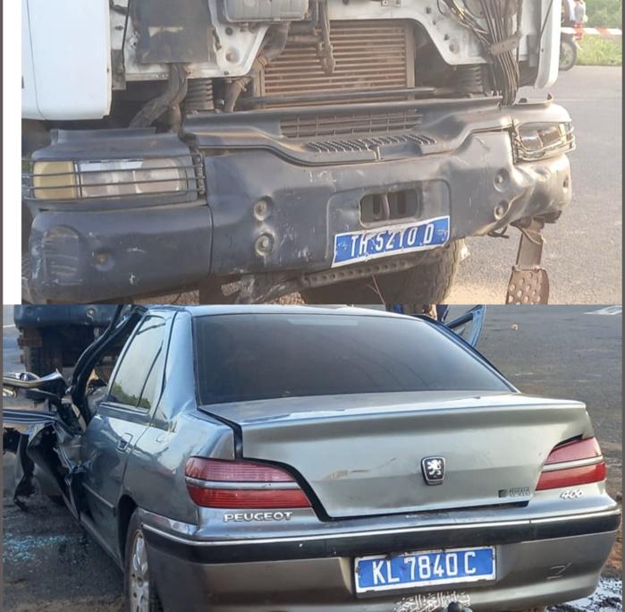 Accident : Une collision entre deux véhicules au carrefour de Mont-Rolland-Thiès fait 2 morts et 3 blessés
