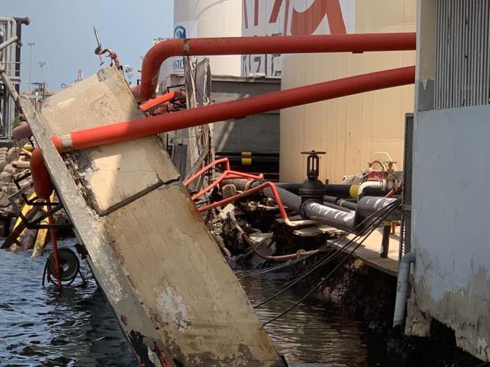 Affaissement partiel du quai 910 : l'autorité portuaire rassure