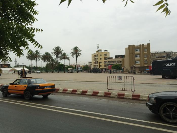 """Manifestation avortée de """"Nio Lank"""" : Calme plat à la place de la Nation... Les forces de l'ordre aux aguets..."""