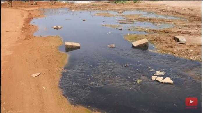ONAS : casse de la conduite de refoulement de la station d'épuration sur les deux voies menant vers Cambérène
