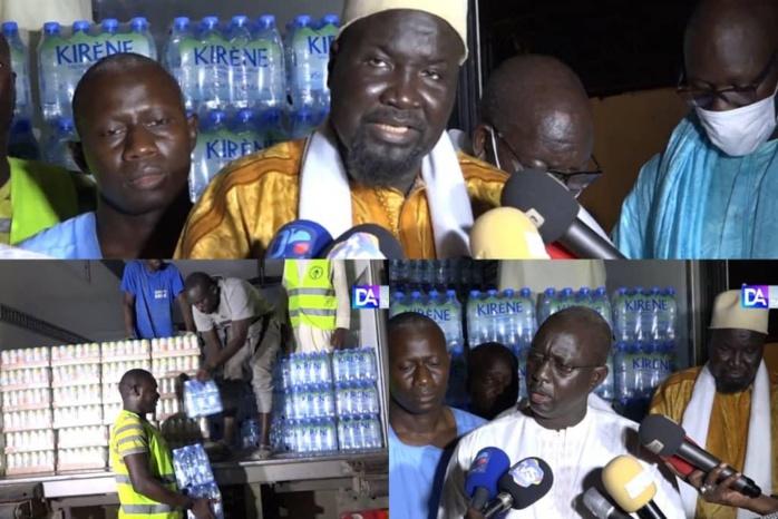 MAGAL 2021 - Serigne Mboup convoie deux camions de boissons et d'eau minérale.