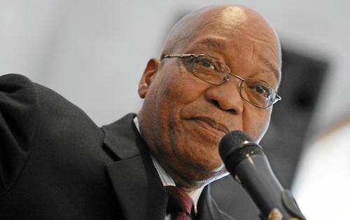 Le président Jacob Zuma en visite à Dakar
