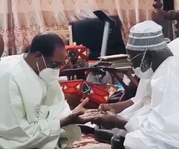 Magal 2021 : Me Madické Niang reçu par Serigne Mountakha Mbacké, Khalife Général des Mourides.