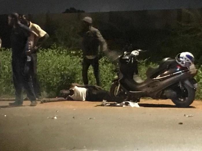 Magal 2021/Accident de la route : Une moto percute un dos d'âne et fait un mort.