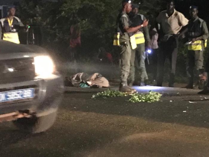 Magal 2021/Accident de la route : Une moto percute un dos d'âne et fait un m**t.