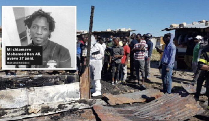 Italie : un ouvrier sénégalais, meurt brûlé dans un incendie, beaucoup de compatriotes sinistrés revendiquent de meilleures conditions de vie.