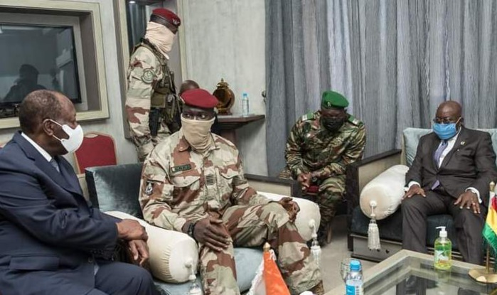 Conakry / Investiture de Mamady Doumbouya : L'Afrique snobe le colonel sauf Assimi Goïta du Mali.