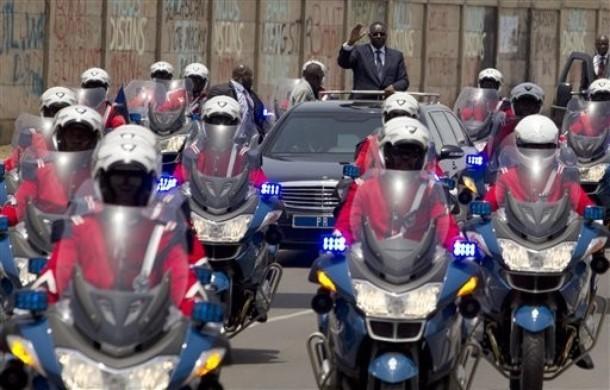 Voyage à bord de la voiture présidentielle