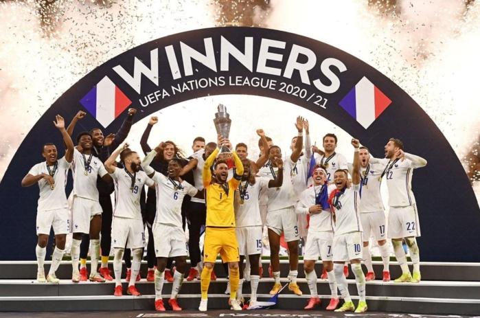 FOOTBALL : l'équipe de France remporte la Ligue des nations en battant l'Espagne (2-1)