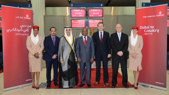 Emirates atterrit en Guinée
