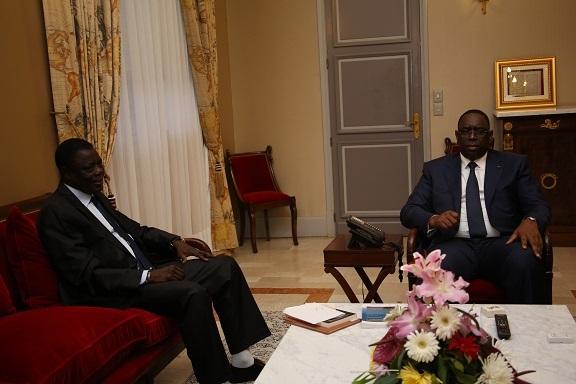 Le Président Sall reçoit l'ancien Premier ministre Habib Thiam