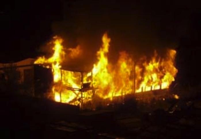Le marché de Mbacké menacé par un feu